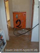 Der Baustromkasten - jetzt im Haus