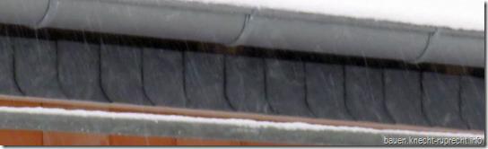 Schieferkante Dachkasten