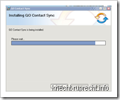 Installation GO Contact Sync
