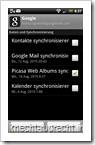 Nexus One Galerie auf dem HTC Desire: Picasa-Sync