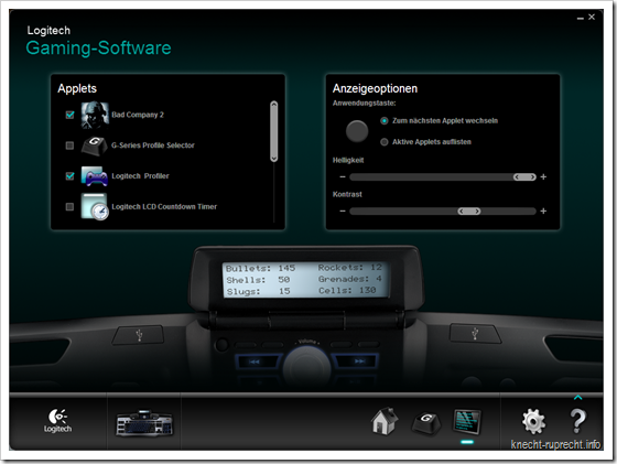 Logitech Gaming Software LCD Applets