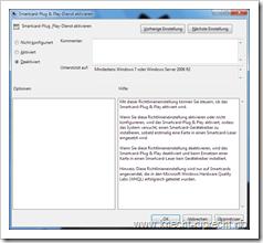 Smartcard-Plug & Play-Dienst deaktivieren