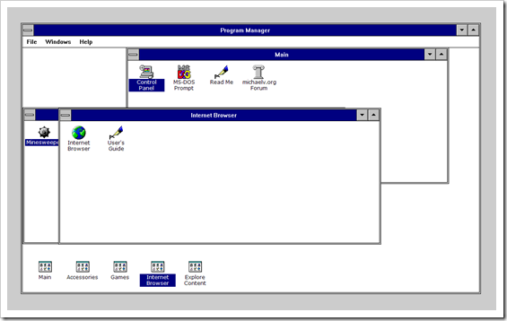 Windows 3.1 im Webbrowser