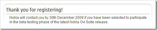 Nokia Ovi Suite: Beta-Test