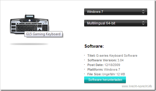 Logitech G15: G-Series Keyboard Software 3.04