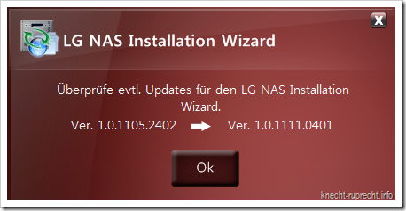 LG NAS N2A2: Update