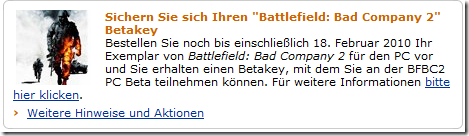 Beta-Keys für die PC-Version von Battlefield: Bad Company 2