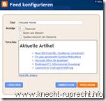 Blogger: Feed-Widget anpassen