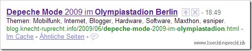 Falsches Google Snippet auf der SERP