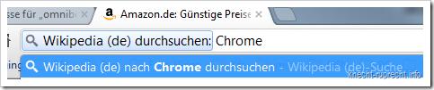 Chrome: Suchkürzel in der Praxis