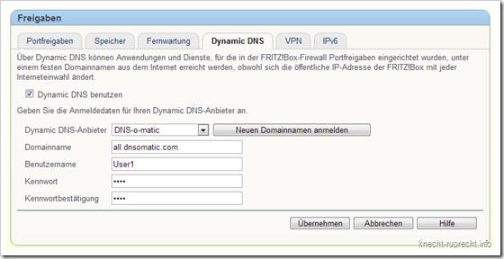 Dynamisches DNS in der FRITZ!Box