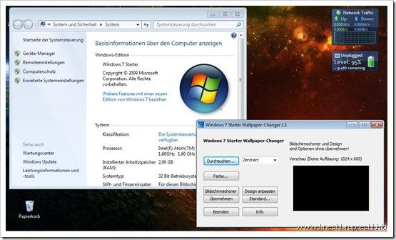 Windows 7 Starter: Hintergrund ändern