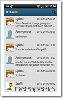 Disqus for Android: Kommentarübersicht