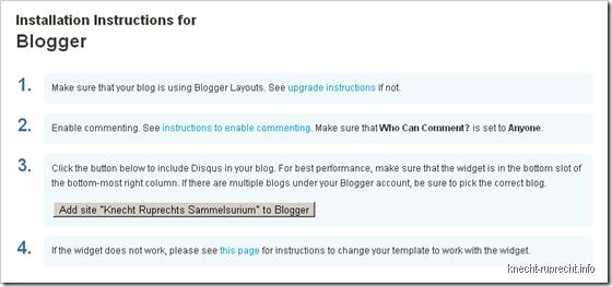 Disqus für Blogger