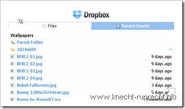 Dropbox: Webinterface für Handys