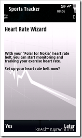 Sports Tracker: Polar for Nokia