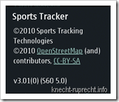 Sports Tracker 3.01 von Sports Tracking Technlogies