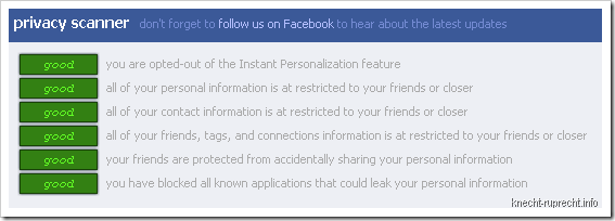 Privacy Scanner for Facebook