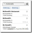 McDonald's in Google Maps