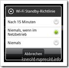 Wi-Fi-Standby-Richtlinie festlegen (Android)