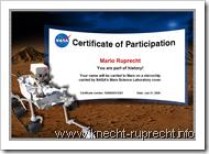 Knecht Ruprecht fliegt zum Mars