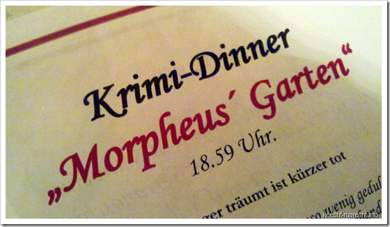 Krimi-Dinner Morpheus' Garten