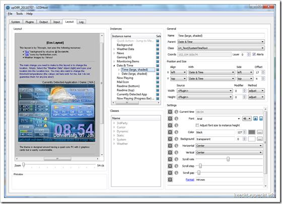 LCDHost alpha 17: GUI