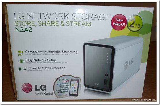 LG NAS N2A2: Verpackung