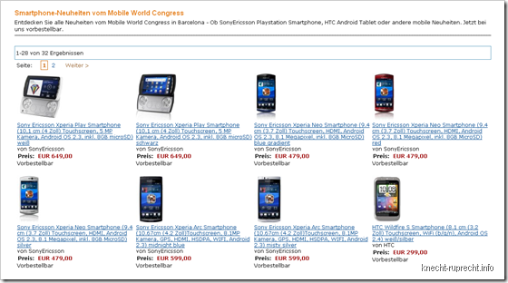 Smartphone-Neuheiten vom Mobile World Congress