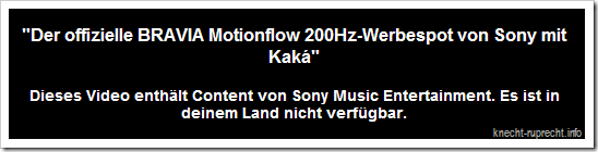 Content von Sony Music Entertainment