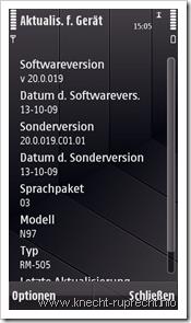 Firmware 20.0.019 für Nokia N97