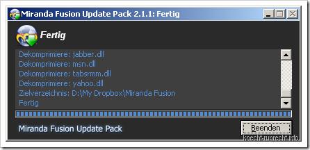 Miranda:Fusion Update auf 2.1.1