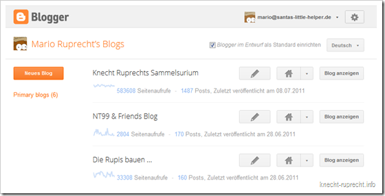 Blogger reloaded: das neue Dashboard