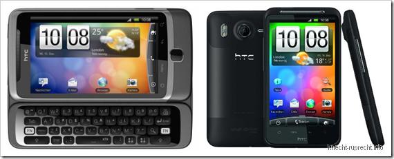 HTC Desire Z und Desire HD
