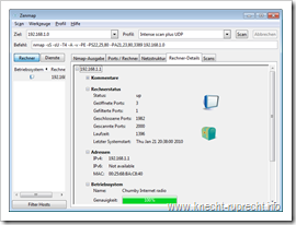 Nmap 5.20: Rechner-Details