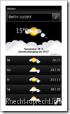 Nokia Hier und Jetzt: Wetter
