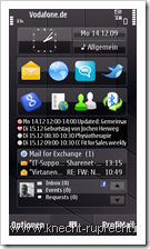 Nokia Messaging for Social Networks: N97 Homescreen