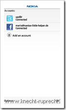Nokia Messaging for Social Networks: Facebook und Twitter