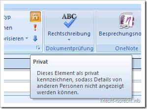 Outlook-Termine als privat kennzeichnen