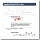 Phishing-Seite bei Google melden