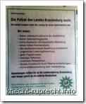 GdP-Stellenanzeige der Polizei