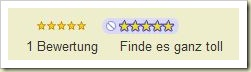 Rating-Widget nun auf deutsch