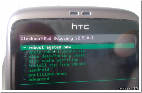 ClockworkMod Recovery v2.5.0.1