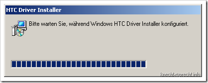 Installation des HTC Driver Installers