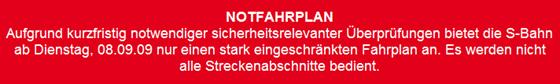 S-Bahn im Chaos