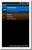 Pakete für Android: Liste