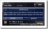 Free-iSMS 1.08 - eingehende SMS