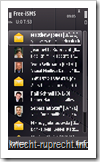 Free-iSMS 1.08 - Nachrichtenübersicht