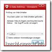 Trigami: Warnung durch Antivirus