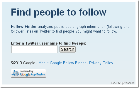 Google Follow Finder